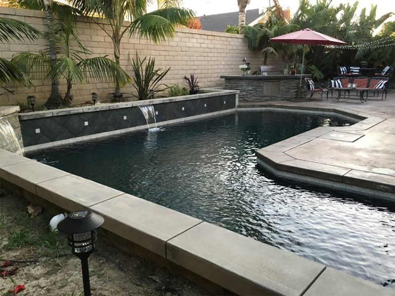 A custom pool in Huntington Beach