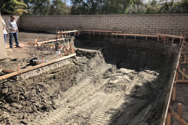Beginning construction on a pool